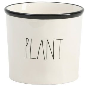 RAE DUNN Plant White Farmhouse Ceramic Planter